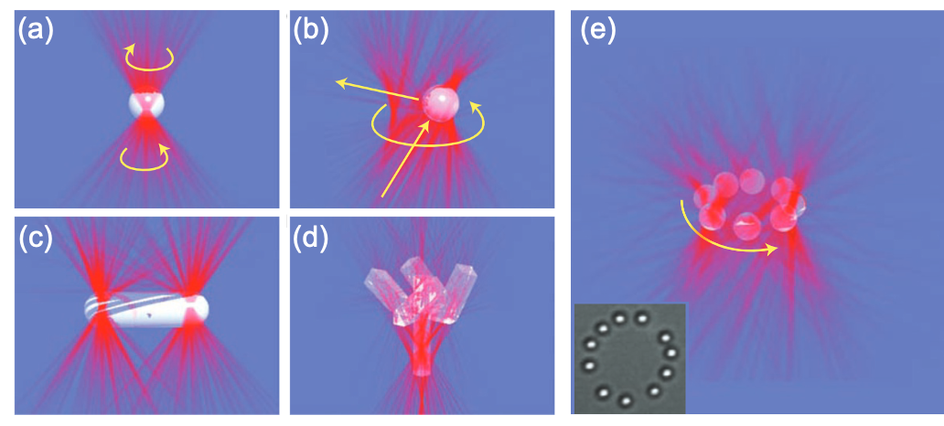 Fig. 2. Different methods of applying optical torque.[4]