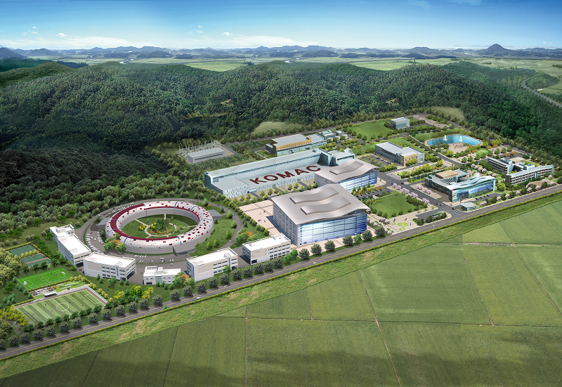 Fig. 12. Aerial view of KOMAC proton accelerator facility after upgrade.