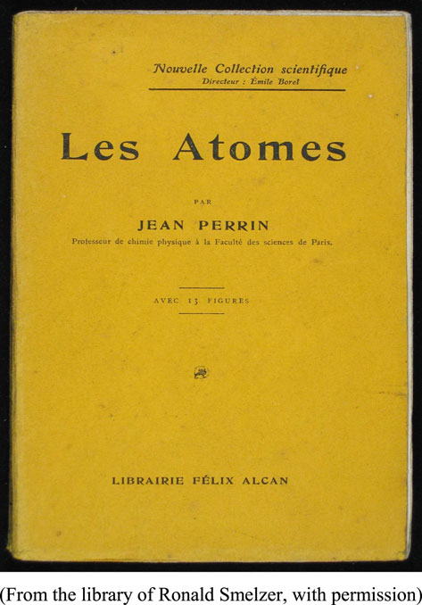 그림 6. 장 페렝의 저서 <Les Atomes> (1913) 표지
