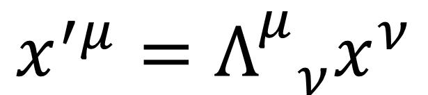 Fig. 4. The Lorentz transformation has the similar mathematical form with the rotation. (로렌츠 변환은 회전 변환과 유사한 수학적 형태를 지니고 있다.)