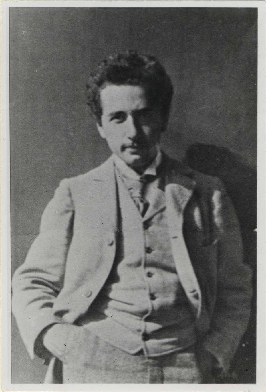 그림 1. 1898년 아인슈타인.