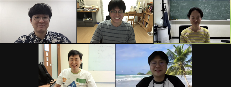 Fig. 4. Group photo of panels. From the upper left, Young-Min Kim, Chan Park, Miok Park, Sungwook E Hong, and Yeong-Bok Bae.