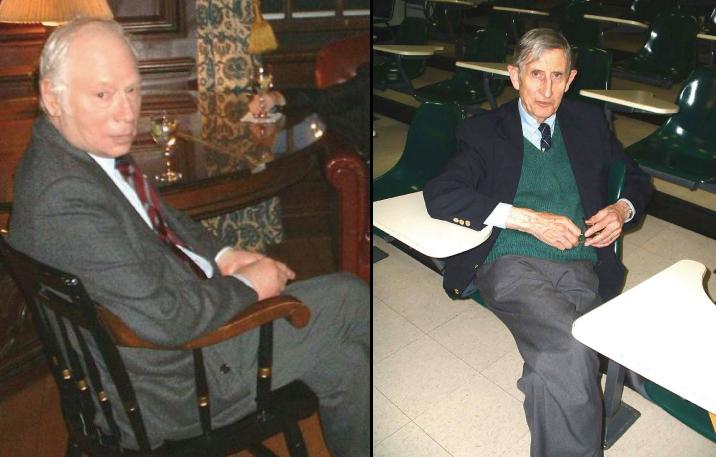 그림 2. 스티븐 와인버그(좌), 프리머 존 다이슨(우).(출처: 위키피디아)