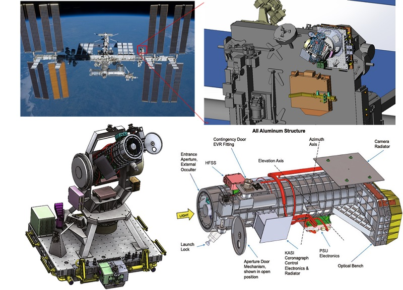 Fig. 7. (Upper) Installation site of CODEX on the ISS. (Lower) Payload layout and CODEX configuration.